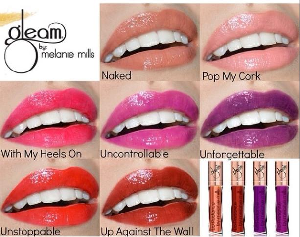 gleam lip colors