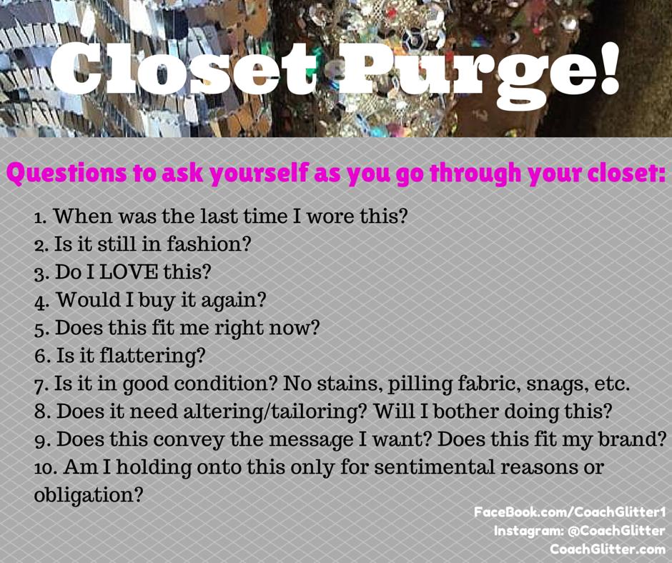 Closet Purge Rules