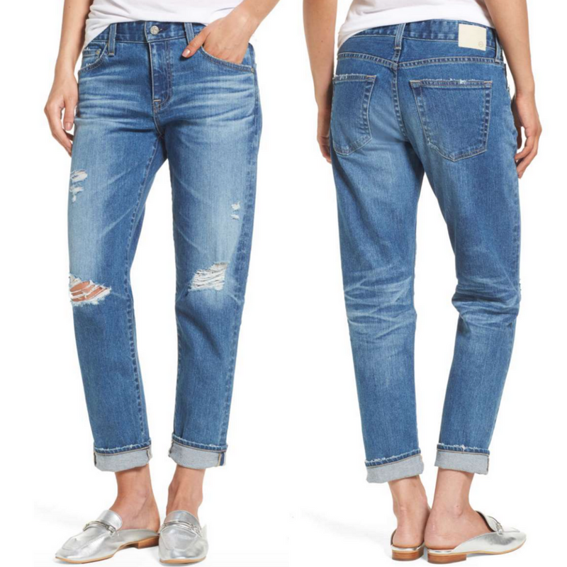 cbaca77670f72 AG Ex-Boyfriend Crop Slim Jeans. Sale $149.90 After sale $225.00 I bought a  nearly identical pair of AG boyfriend crops three years ago and every time  I ...