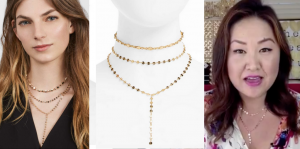 Layering made easy! My favorite, feminine, sparkly necklaces!