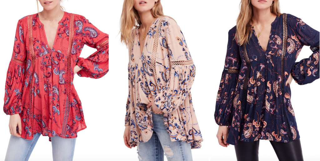 da749fa9498 Free People – Just the Two of Us Floral Tunic Sale:$78.90, Original Price  After Sale:$118.00 This is such an adorable year round top that can be worn  in so ...
